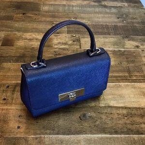 Michael Kors Callie navy leather crossbody…